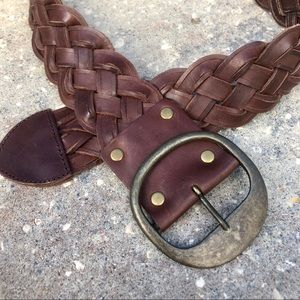 Banana Republic wide braided leather belt